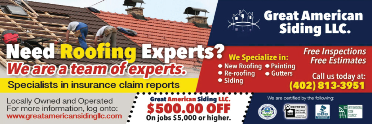 Great American Siding Company LLC Is A Reputable Leader In The Omaha Roofing  Industry. No Omaha Roofing Order Is Too Big Or Too Small For Us.